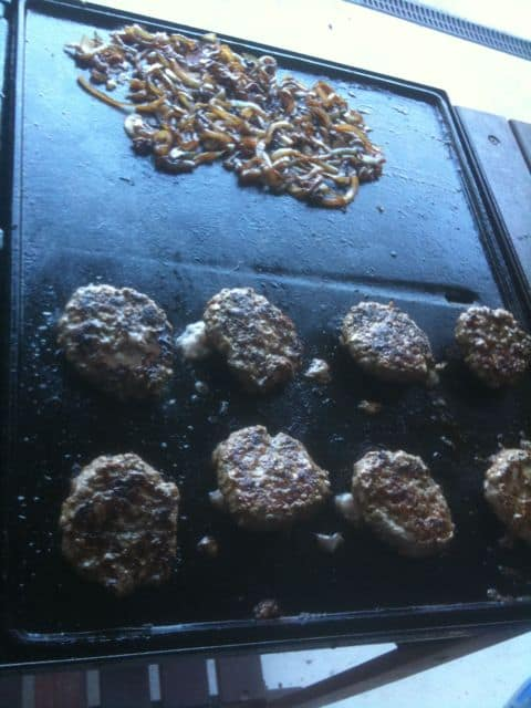 Sizzling burgers