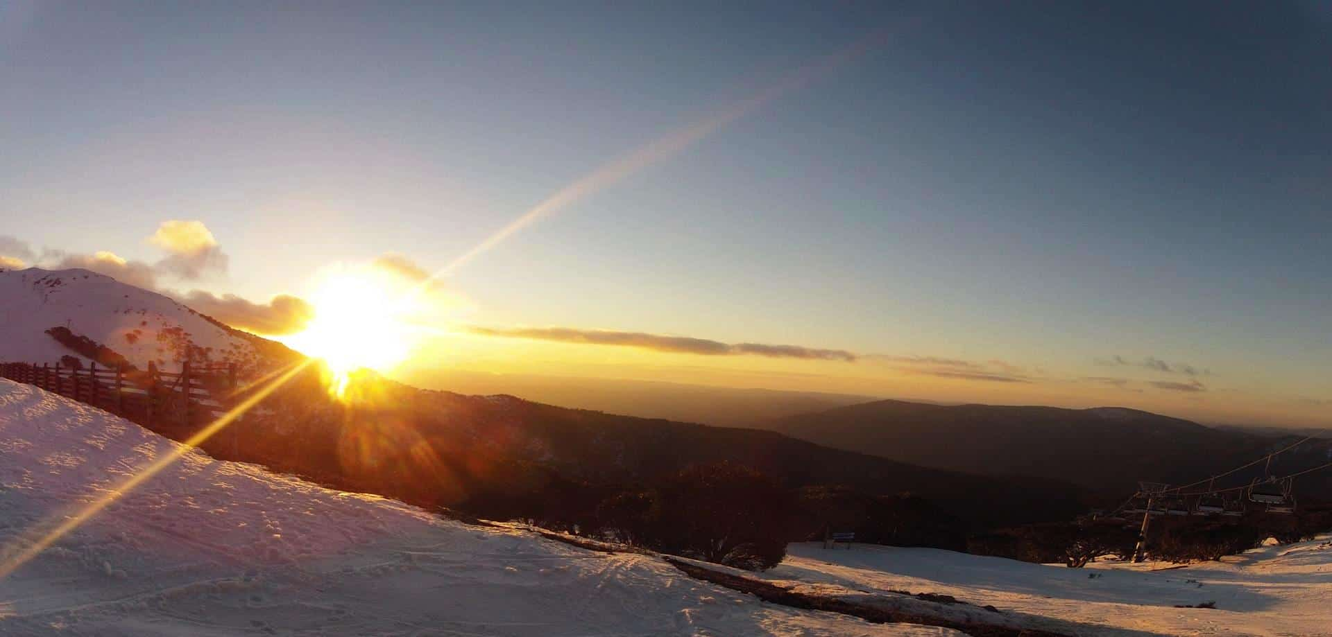 Bonza sunset, Mt Buller