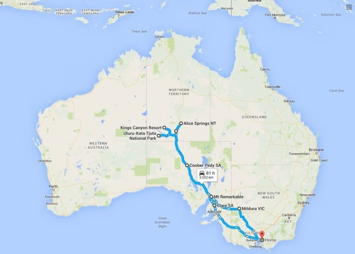 Red Centre Trip 2016